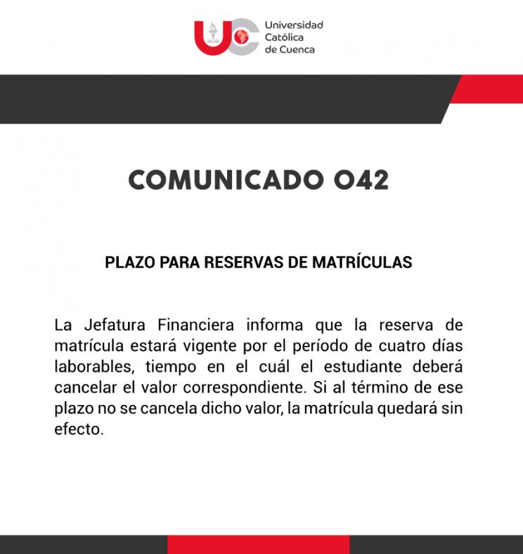 COMUNICADO-042